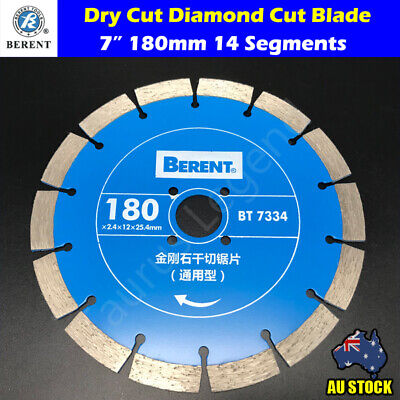 "180mm Dry Diamond Cut 7"" Circular Saw Blade Marble Granite Concrete Masonry"