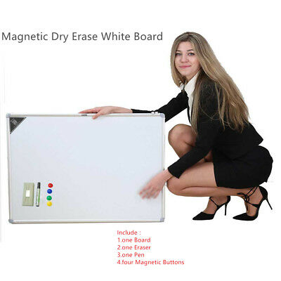 "Magnetic Dry Wipe Whiteboard & Eraser Memo Teaching Board Kitchen Office 35""x23"""