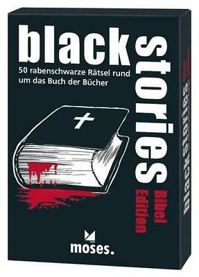 Moses MOS00830 - Black stories, Bibel Edition, 50 rabenschwarze Rätsel, Das Krim