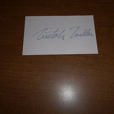 Mitch Miller was an American oboist, conductor, recording Hand Signed Index Card