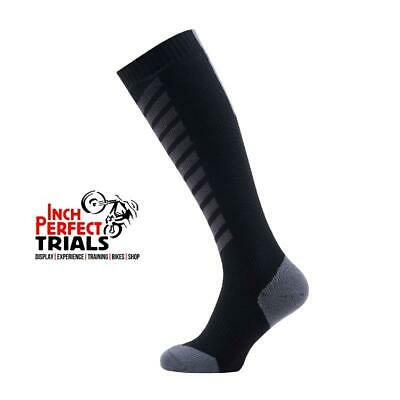 Sealskinz Mtb Mid Knee Waterproof Sock With Merino Wool Black/Charcoal