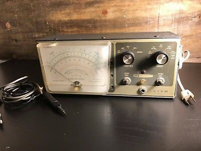 Heathkit VTVM IM-13 Vacuum Tube Voltmeter Tested And Does Have Power