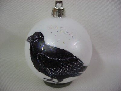 New Handpainted Raven Crow Unbreakable Christmas Ornament