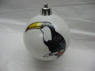 New Handpainted Toucan Unbreakable Christmas Ornament
