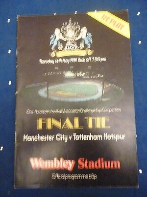 1981 FA CUP FINAL REPLAY  MANCHESTER CITY v TOTTENHAM HOTSPUR, 14th May