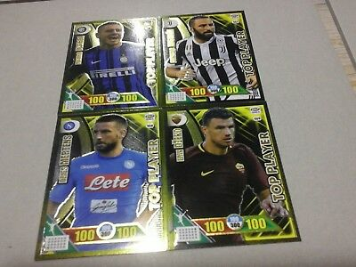 Adrenalyn Calciatori 2017 2018 panini TOP PLAYER DZEKO MERTENS HIGUAIN ICARDI