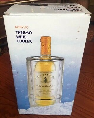 BRAND NEW BOXED Fortius Acrylic Double Walled Wine Cooler Chiller Ice Bucket