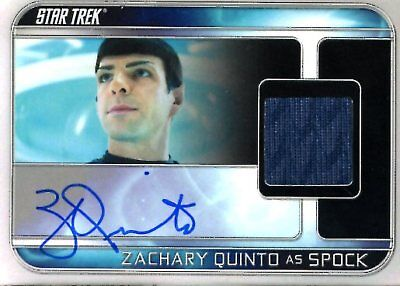 Star Trek Beyond COSTUME RELIC / AUTOGRAPH CARD of ZACHARY QUINTO Spock 135/255