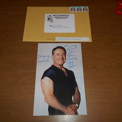 Jack LaLanne was a fitness expert  Hand Signed Photo w/Envelope