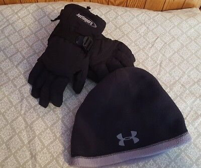 youth Under Armour winter beanie youth hotfingers gloves set