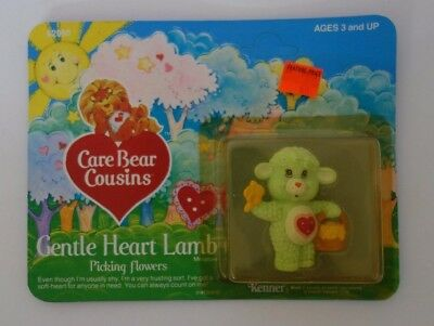 Care Bear Cousins Gentle Heart Lamb Rare 1985 Kenner New In Package PVC Figure