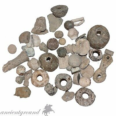 Big Lot Of 285 Grams Ancient Roman And Byzantine Lead Artifacts