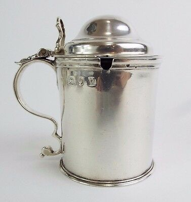 Mustard Pot Knights Crest Pearce of Penzance Georgian Solid Sterling Silver 1770
