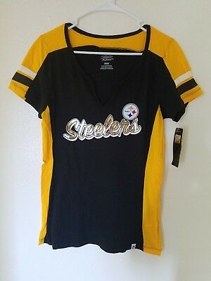 NEW MAJESTIC NFL Team Apparel - PITTSBURGH STEELERS V-Neck Jersey Shirt  Womens faf55c78e