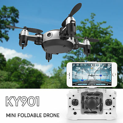 Mini Drone With Camera RC Quadcopter FPV Portable Selfie Cam HD Wifi 2.4G UFO