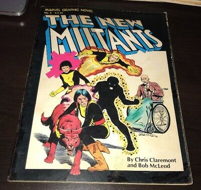 MARVEL GRAPHIC NOVEL #4 (1982) VG Origin & 1st app NEW MUTANTS 1st PRINT