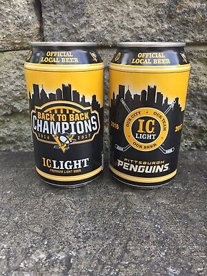 IC Light Pittsburgh Penguins Back to Back 2016-2017 Beer Can