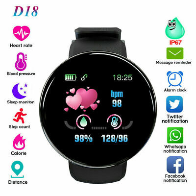 Waterproof Bluetooth Smart Watch Android UK Samsung Heart Rate Blood Pressure