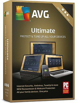 Avg Ultimate 2019, 1 Year - For Unlimited Devices, Windows, Mac, Android -No Cd
