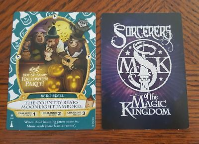 Disney Mickey's Not So Scary Halloween Party 2017 Sorcerer's Card Country Bears