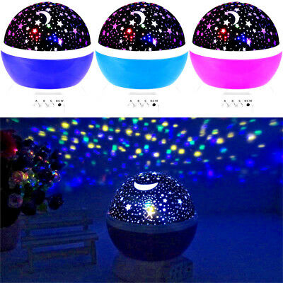 Romantic Rotating Star Moon SkyNight Projector high quality Kids Bed Light Lamp
