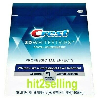 Crest 3D WHITE Teeth Whitestrips Glamorous 28 Strips Exp. 2020 Dental Whitening