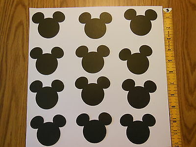 Mickey Mouse Heads 24 Die Cuts Party Decorations Table Decor