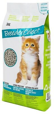Breeder Celect Recycled Biodegradable Paper Pellet Cat Litter 30l Litre FAST NEW