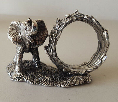 Reed and Barton 1824 Collection Elephant Silverplate Napkin Ring.....MINT IN BOX