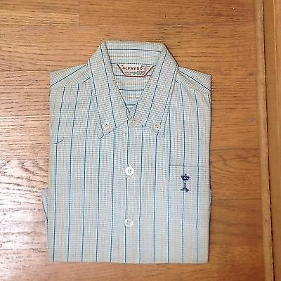 VINTAGE BOY'S BUTTON DOWN SHORT SLEEVE SHIRT late '60's early '70's