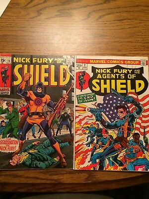 Nick Fury Agent Of Shield 15 VG+ First Bullseye And Shield #2 Fine- 1969-1970