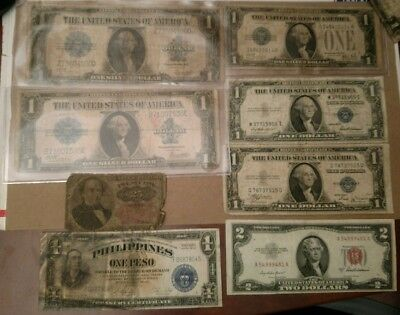 Lot Large & Small Mixed Silver Certificate Funny Culls Rags Damaged Fractional