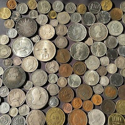 104 North And South American  Silver, Copper And Nickel World Coins