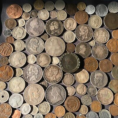 100 European Silver, Copper, Nickel, And Aluminum World Coins