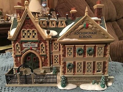 Department Dept 56 Dickens Village Rockingham School 2000 Retired #56-58479