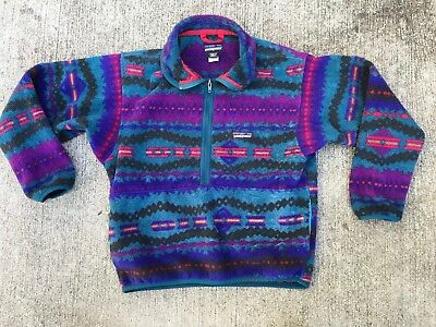 PATAGONIA BOYS size 12 Snap T FLEECE PULLOVER Jacket
