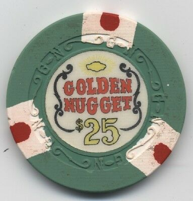 Golden Nugget $25 Las Vegas early GN mold Great lookin chip!
