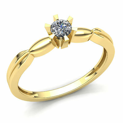 Genuine 0.25ct Round Cut Diamond Ladies Forever One Engagement Ring 10K Gold