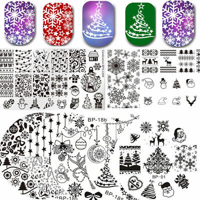BORN PRETTY Nail Stamping Plates Flower Snowflake Ocean Stencil Image Template