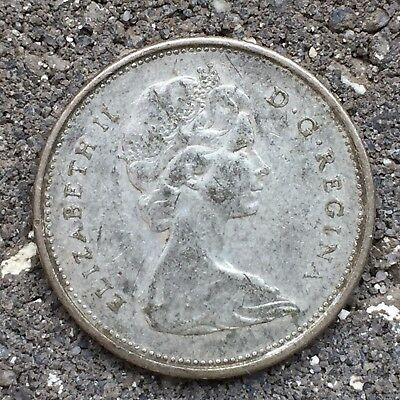 Canada 25 Cents Quarter 1968 - 1 Year, Last Year for Silver