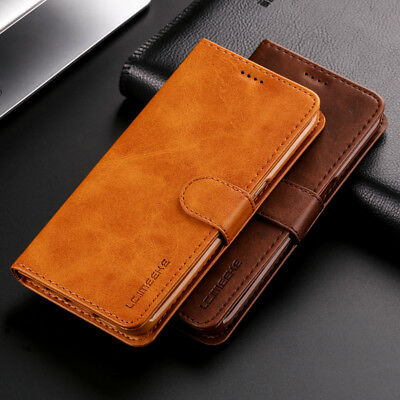 Luxury Genuine Real Leather Flip Wallet Stand Case Cover For iPhone X 8 7 6 Plus