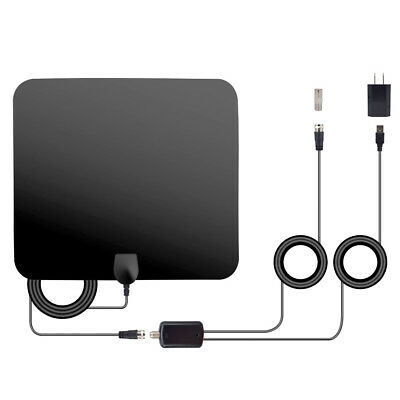 Digital HDTV Antenna 50 Miles Range 1080P 4K Signal Amplified Booster Cable Indo