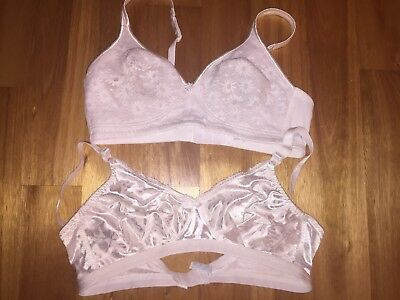 Lot Of 2 Underwire Free Bras 38C Cross Your Heart And Werners