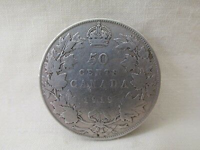 1919  Canada Silver Fifty Cents Coin