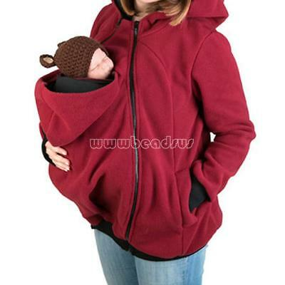 Baby Mummy Baby Carrier Jacket Hoodie Jumper Kangaroo Maternity Outerwear Coats