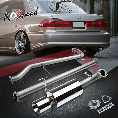 4 Muffler Tip Catbackcat Backheader Exhaust 98 02 Honda Accord