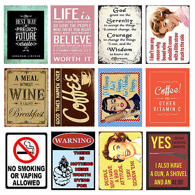 Funny, Retro Metal Signs/Plaques, Cool Novelty Gift, Quotes 6