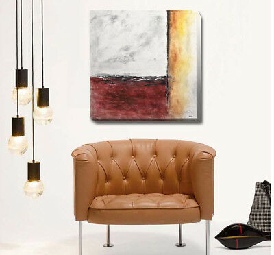 Vintage Abstract Stretched Canvas Print Framed Wall Hanging Home Office Decor