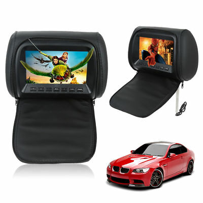 """2x 7"""" twin car headrest player pillow HD touch screen monitor mp5 black Latest!"""