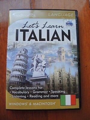 Let's Learn Italian for Windows and Macintosh by Nodtronics Sealed FREE POSTAGE
